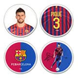 F.C. Barcelona Gerard Pique 3D Stickers - Pack of 4