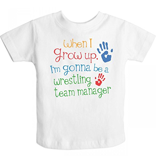 Inktastic Little Boys' Wrestling Team Manager Future Toddler T-Shirt 4T White front-676789