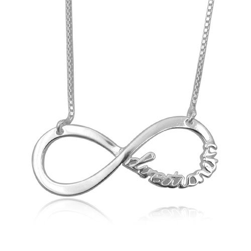 925 STERLING SILVER PLAIN FASHION INFINITE DIRECTION NECKLACE CHAIN 41cm Length