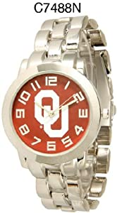 NCAA Officially Licensed Oklahoma Sooners Mens Metal Round-faced Wristband Watch by Time World
