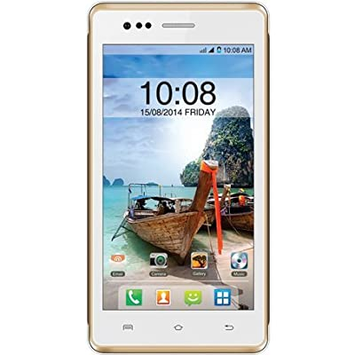Intex Aqua 4.5E (White-Champagne)