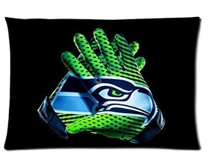 Custom Seattle Seahawks Pattern 01 Pillowcase Cushion Cover Design Standard Size 20X30 Two Sides
