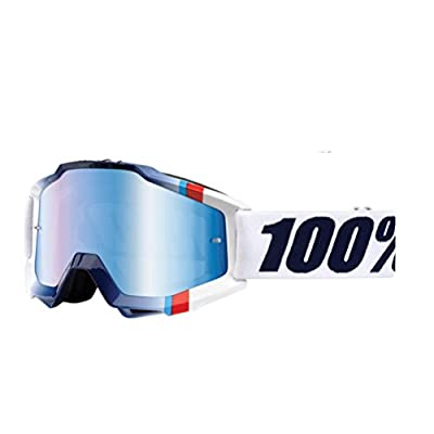 100% Accuri Goggles - Mirrored Lens-White Crystal
