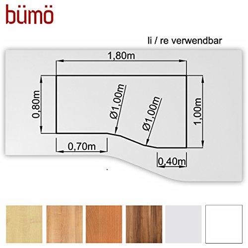 Bm-stabile-Tischplatte-25-cm-stark-DIY-Schreibtischplatte-aus-Holz-Brotischplatte-belastbar-mit-120-kg-Spanholzplatte-in-vielen-Formen-Dekoren-Platte-fr-Bro-Tisch-mehr-Freiform-180-x-100-cm-Wei
