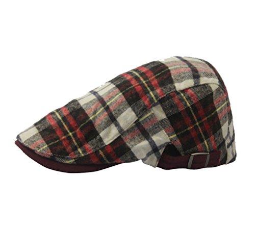 Unsex Plaid Cabbie Hats Summer Driver Golf Flat Hat