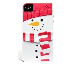【冬季限定】Case-Mate iPhone 4S / 4 Creatures: Snowman Case, White クリーチャーズ スノーマン シリコン ケース, ホワイト CM017049