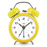Modern Fashion Lovely Colorful Metal Alarm Clock Yellow 888