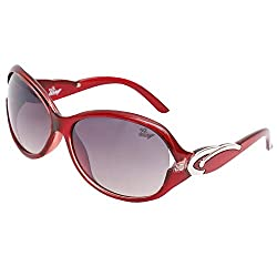 Bling Black Gradient Mercury finish Oval Sunglasses for Women (BS1009 007)