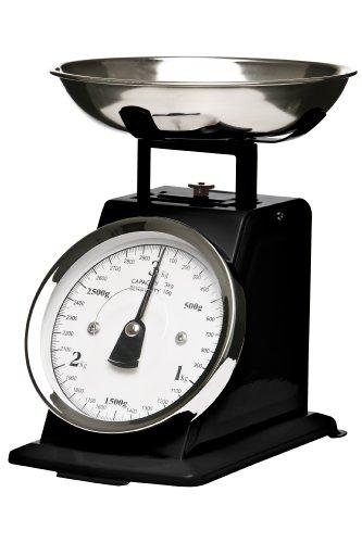 Premier Housewares Balance de cuisine mécanique Bol inox Noir mat 3 kg