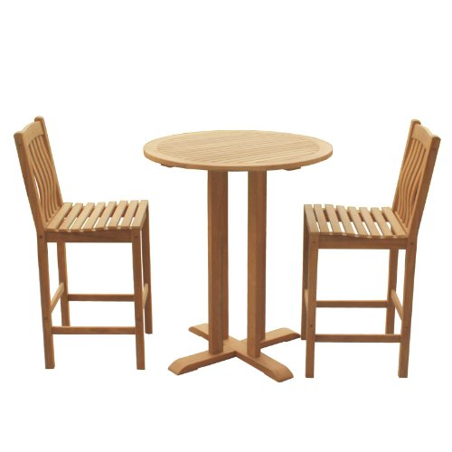 Southern Enterprises Teak Bar Set - Set of 3