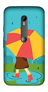 Timpax Protective Hard Back Case Cover With Easy access to all ports Printed Design : A rainy day.Precisely Design For : Motorola Moto-G-3 ( 3rd Gen )
