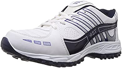 A-Star Men's White and Blue Running Shoes - 8 UK (A-51)