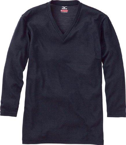 (ミズノ)MIUZNO ブレスサーモエブリVネック長袖シャツ 75CM401 09 ブラック M