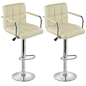 Brand New Pair of Cream Faux Leather Kitchen/Bar stools by Lamboro