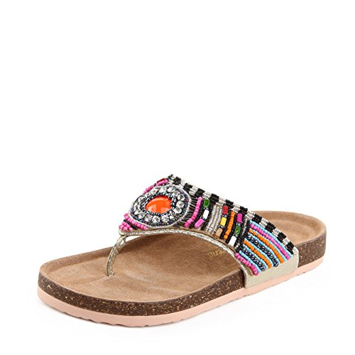 Nouvelle éolienne nationale dans summer fashion Cork sandales et pantoufles/Les tongs femme plage