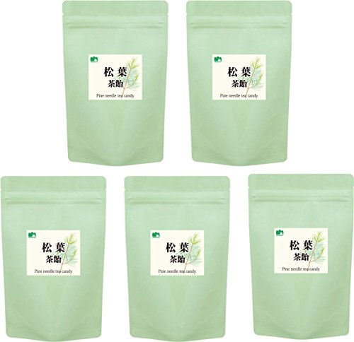 Hermit Satoyama House pine needle tea candy / elixir of longevity candy [organic pine needle tea (Pinus densiflora) manufacture-production / health tea candy medicinal raw Tokushima] 80 g x 5pcs sets/gift bag and seal