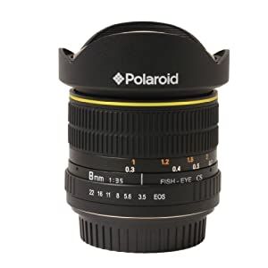 Polaroid Studio Series Ultra Wide Angle 8mm f/3.5 Circular Fisheye Lens For The Canon Digital EOS Rebel T3