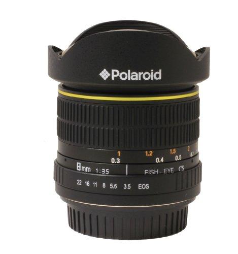 Polaroid Studio Series Ultra Wide Angle 8mm F/3.5 Circular Fisheye Lens For The Nikon D40, D40x, D50, D60, D70, D80, D90, D100, D200, D300, D3, D3s, D700, D3000, D5000, D3100, D3200, D7000, D5100, D4, D800, D800e Digital Slr Cameras