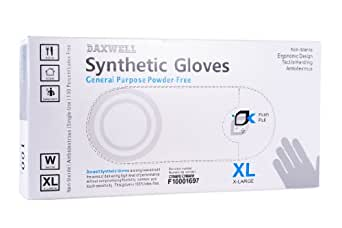 Daxwell F10001697 Synthetic PVC General Purpose Glove, Powder Free, X-Large, White (10 Boxes of 100 Gloves)