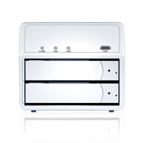Sans Digital MR2UT+ MobileRAID 2 Bay SATA to eSATA/USB 3.0 RAID 0/1/JBOD/Spanning Enclosure (Silver)