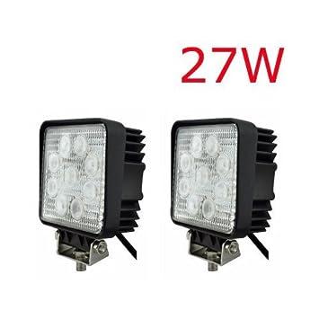 2 x LED Scheinwerfer 27W 2500Lumen 9-30V Arbeits ...