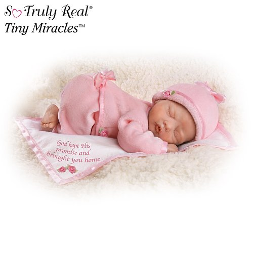 God Kept His Promise And Brought You Home Lifelike Newborn Baby Doll: So Truly Real by Ashton Drake