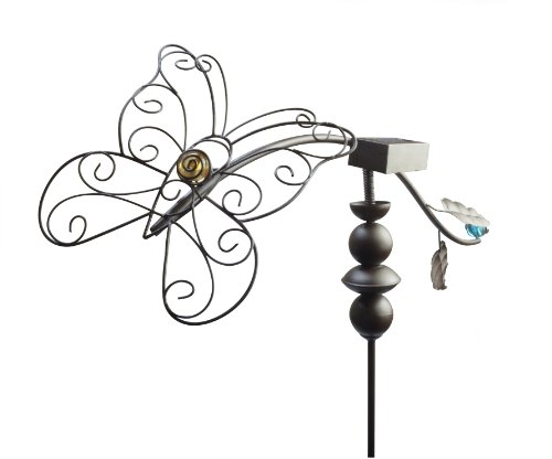 Moonrays 92347 Dancing Butterfly Garden Stake Light And Outdoor Solar-Powered Led Light