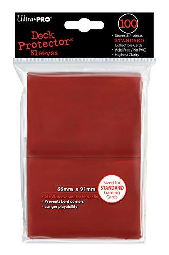 Ultra Pro - 330490 - Jeu De Cartes - Housse De Protection - Red Solid - 100 Pièces