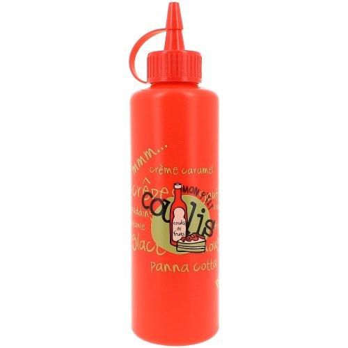Promobo -Bouteille Distributeur Flacon Pousse Sauce Humour Picto Coulis Tomate