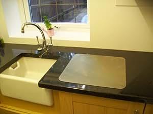 avonstar classic schneidebrett arbeitsplatte quadratisch aus edelstahl rutschfeste. Black Bedroom Furniture Sets. Home Design Ideas