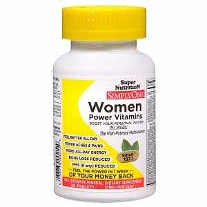 Super Nutrition Simplyone Women Multivitamin-Mineral Dietary Supplement Tablets, 63 30 Each