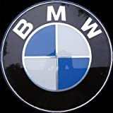 NEW BMW 3 5 6 7 X Z M Series Glossy BLUE HOOD / TRUNK Emblem Roundel Badge 82mm