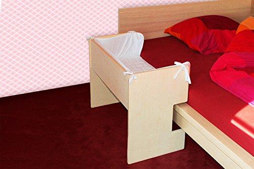 Baby-Beistellbett-natur-fr-Ikea-Malm-Bett-niedrige-Version