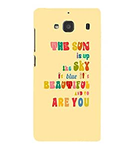 EPICCASE The Sun is Up Mobile Back Case Cover For Mi Redmi 2 (Designer Case)