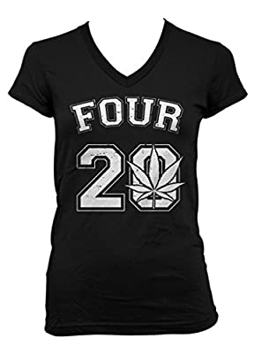 Cybertela Four 20 Junior Ladies V-neck T-shirt