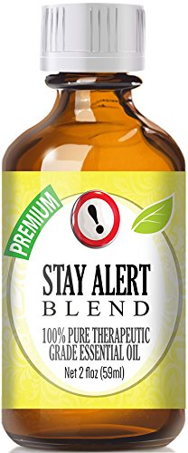 Stay Alert Blend 100% Pure, Best Therapeutic Grade Essential Oil - 60ml / 2 (oz) Ounces - Eucalyptus, French Lavender, Peppermint