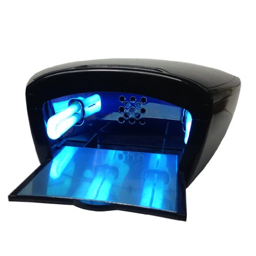 Big Sale!!! Belle® Black Professional 2-In-1 Fan And Uv Light Uv Curing Nail Dryer For Acrylic Gel Manicures 36 Watt