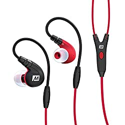 MEE Audio M7P Over-Ear Headphones with Mic (Red)