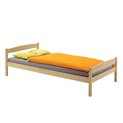 Einzelbett-Bett-Kinderbett-Jugendbett-Holzbett-Massivholzbett-Landhausbett-Gstebett-BORIS-Kiefer-massiv-in-100-x-200-cm-buchefarben