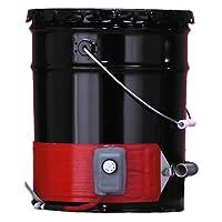 BriskHeat DPCS10 DPCS Standard Heavy Duty Poly Pail Heater, Fits 5-Gallon Poly Pails, 2-Layer Reinforced Silicone Rubber, W x L: 4 x 35-Inch, Diameter: 11.1-Inch, 120VAC from BriskHeat