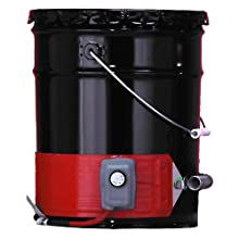 BriskHeat DPCH10 DPCH Extra Heavy Duty Poly Pail Heater, Fits 5-Gallon Poly Pails, 3-Layer Reinforced Silicone Rubber, W x L: 4 x 35-Inch, Diameter, 11.1-Inch, 120VAC