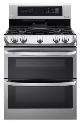 LG-LDG4315ST-30-Freestanding-Double-Oven-Gas-Range-with-69-cu-ft-Capacity-5-Burners-Griddle-Probake-Convection-Glass-Touch-Controls-and-Door-Lock-in-Stainless-Steel