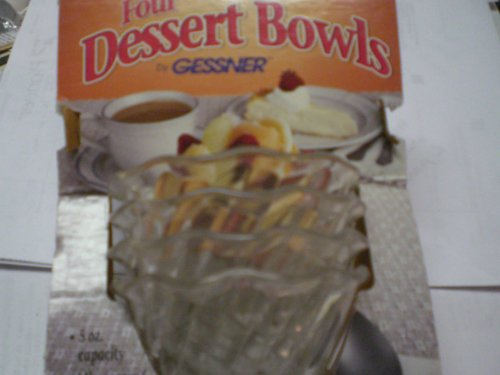 Dessert Bowls 4 Ct 5Oz Capacity, Microwave And Dishwasher Safe Made In Usa.