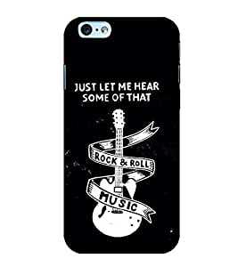 Guitar Rock and Roll 3D Hard Polycarbonate Designer Back Case Cover for Apple iPhone 6