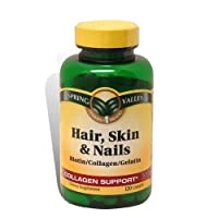 Hair, Skin and Nails Collagen Support Vitamins 120 count from Spring Valley