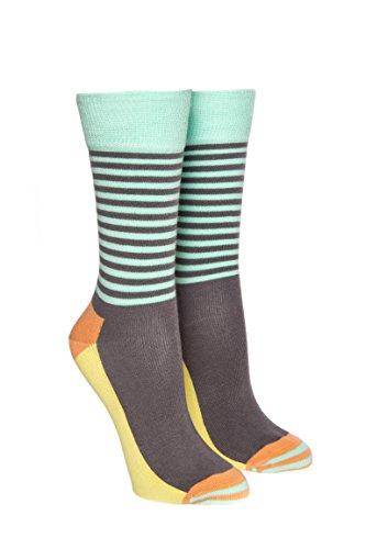Half Stripe Crew Sock