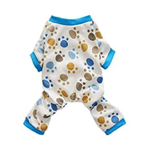 Adorable Paws Dog Pajamas for Dog Shirt Cozy Soft Dog Pjs Dog Clothes, Medium