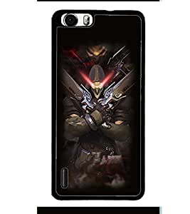 PRINTVISA Abstract Warrior Case Cover for Huawei Honor 6