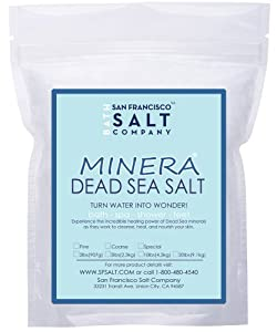 Minera Dead Sea Salt Bulk 60lb Fine Grain, Mineral Rich Bath Salt