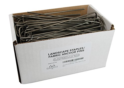 150-garden-landscape-staples-stakes-fabric-anchor-pins-6-inch-strong-durable-11-gauge-steel-professi